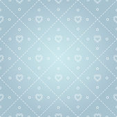 Seamless pattern with stitches and hearts. — Stock Vector
