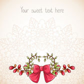 Beautiful romantic flourish background. — Stock Vector