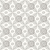 Seamless pattern with flowers and leaves — Vector de stock