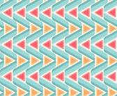Seamless geometric pattern. Triangles — Stock Vector