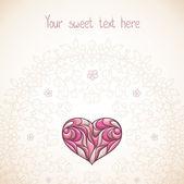 Placecard med hjärta. — Stockvektor