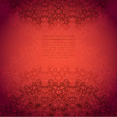 Lace red background — Stock Vector