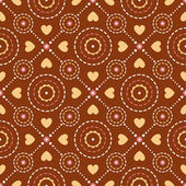 Hearts and rounds. Seamless pattern. — Stock Vector