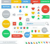 Website template and navigation elements. — 图库矢量图片