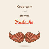 Cartão postal de bigode retro — Vetorial Stock