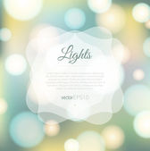 Magical background with colorful bokeh — Stock vektor