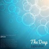 Deep ocean background — Stock Vector