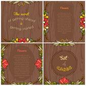 Summer floral cards — Vecteur