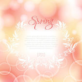 Romantic spring background — Stock Vector