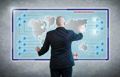 Businessmann futuristic — Zdjęcie stockowe