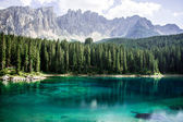 Lake, forest and mountains — Stock Photo