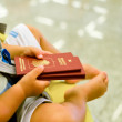 Travel with the small child — Stock Photo