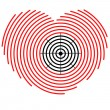Target on heart — Stock Vector