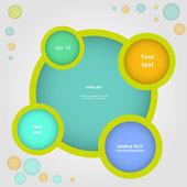 Website infographic, vector design frame — Stock Vector