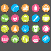 Baby icons set.Vector Illustration — Stock Vector