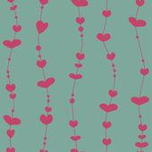 Seamless pattern with valentine hearts — Stockvektor