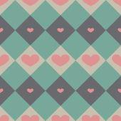 Nahtlose muster mit valentine herzen — Stockvektor