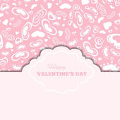 Happy valentines day cards with hearts and frame — Stockvector