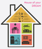 House and real estate icons vector illustration — Stock Vector