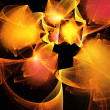 Abstract orange and yellow fractal background techno style — Stock Photo