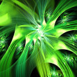 Spiral green colorful abstract space fractal with lights — Stock Photo #32496619