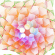 Fractal circle abstract illustration colorful background — Stock Photo