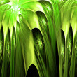 Spiral green colorful abstract space fractal with lights — Stock Photo #32497499