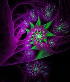 Ilustración fractal abstracto violeta brillante — Foto de Stock