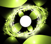 Green colorful abstract space fractal with lights — Stock Photo