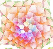 Fractal círculo ilustração abstrata fundo colorido — Foto Stock