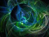 绿色幻想背景分形的详细说明 — 图库照片