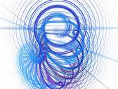 Bright blue spiral fractal background illustration — Stock Photo