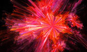 Pink fractal abstract illustration fantasy background — Stock Photo