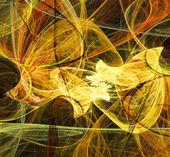 Yellow abstract fractal illustration — Stock Photo