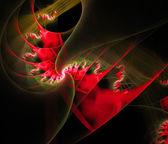 Illustration de couleurs rouge spirales fractal — Photo
