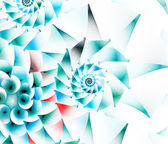 Colorful spiral fractal on white — Stock Photo