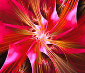 Ilustração de fractal de espirais de cores vermelho — Foto Stock