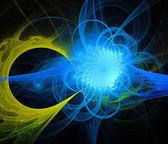 спираль яркий фон фрактальной генерируется — Стоковое фото