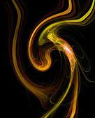 Kleurrijke fractal illustratie abstracte achtergrond — Stockfoto