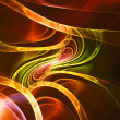 Abstract orange and yellow fractal background techno — Stock Photo #32601901