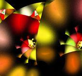 Fraktální barevné ilustrace abstraktní pozadí — Stock fotografie