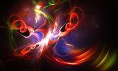 Ilustração abstrata de fantasia colorido vermelho fundo — Foto Stock