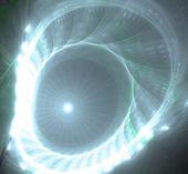 Illustrazione di sfondo frattale spirale blu brillante — Foto Stock