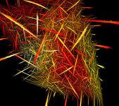 Ilustración de fractal de estilo techno sobre fondo negro — Foto de Stock