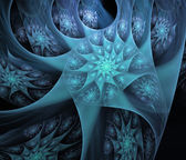 Blue detailed fractal illustration background — Stock Photo