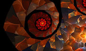 Orange spiral abstract background — Zdjęcie stockowe