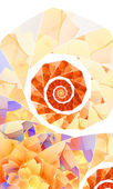 Orange spiral abstract background — Stock Photo