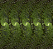 Abstract green illustration fractal style — Stock Photo