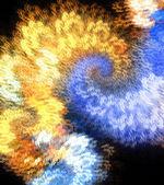Oheň a led blesk abstraktních fraktálů — Stock fotografie