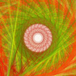 Abstract orange fractal picture with circle pattern, mandala — Stock Photo #32708009